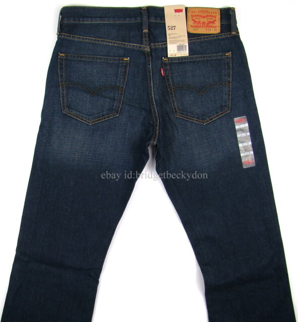 Levis 527 Jeans Mens New Slim Boot Cut OVERHAUL - DARK BLUE - MANY SIZES