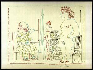 PICASSO-1955-LITHOGRAPH-w-COA-UNIQUE-amp-EXCLUSIVE-Pablo-Picasso-RARE-ART-PRINT