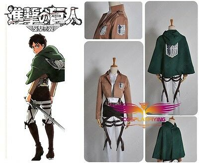 Attack on Titan Shingeki no Kyojin Levil Scouting Legion Uniform Cosplay Costume