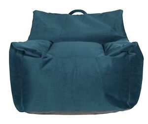 Astounding Argos Home Velvet Beanbag Teal Ebay Gmtry Best Dining Table And Chair Ideas Images Gmtryco