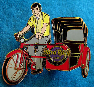 Macau-Hotel-Cina-Trishaw-Bicicletta-Veicoli-Locale-Man-Ride-Rigida-Rock-Cafe-Pin