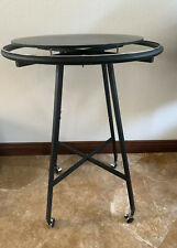 Round Clothing Rack Clothes Garment Retail Store Dark Charcoal Finish W Top Base