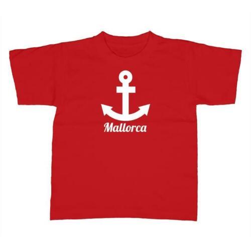 Enfants T-Shirt-Majorque ancre-Espagne Spain vacances
