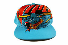 Detroit Vipers Big Logo Retro Teal Snapback Hat Cap Red Wings IHL Howe The Game