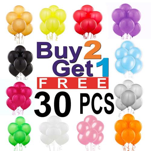 30 X Large Plain baloons Hélium Ballons De Qualité Fête Anniversaire Fête des Pères