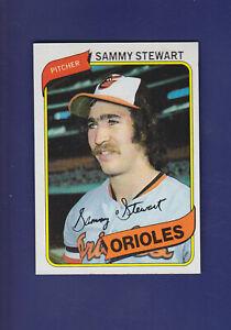 Sammy-Stewart-1980-TOPPS-Baseball-119-NM-Baltimore-Orioles