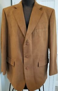 NWT-Men-039-s-Options-STAFFORD-Micro-Polyester-3-Button-SUIT-COAT-Blazer-Jacket-46L