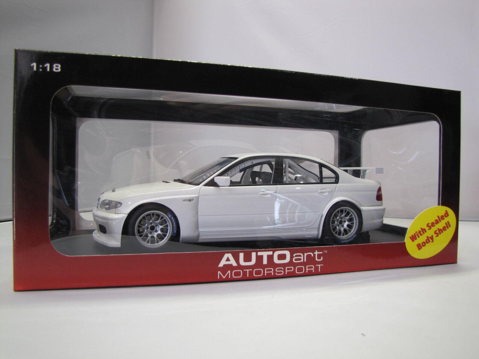 80548 Autoart BMW 320i WTCC Plain Body Versione (WHITE) - 1:18