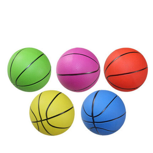 """1X Mixed Colorful Sizes Inflatable PVC Basketball Kid Toy Fun 4/"""" 6/"""" 8/""""  New JKHW"""