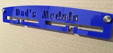 PERSONALISED Medal Hanger Display Holder Rack Acrylic CHOOSE COLOURS.