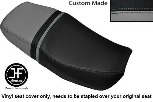 GREY AND BLACK VINYL CUSTOM FOR HONDA CB 400 NC31 SUPERFOUR DUAL SEAT COVER