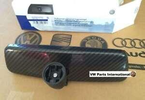 VW Golf MK4 GTI R32 Black Rear View Mirror Carbon Fibre Style Genuine New OEM VW
