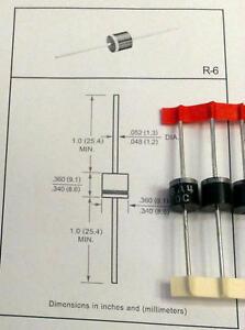 5 Pcs P600g 6a4 Silicon Rectifier Diode 6a 400v (m1631)-afficher Le Titre D'origine