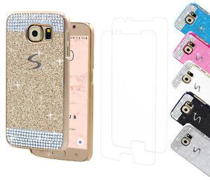 Handy-Huelle-Schutz-Strass-Steine-Glitzer-Samsung-Galaxy-Tasche-Case-SCHUTZFOLIE
