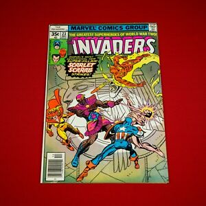 Marvel-Comics-The-Invaders-23-Bronze-Age-1977-Captain-America-Namor-Vintage