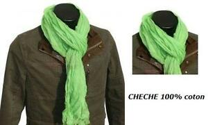 CHECHE-VERT-VERTE-100-COTON-HOMME-FEMME-FILLE-ECHARPE-MOTARD-FOULARD-KEFFIEH