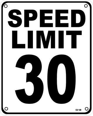 Panneau Limite Vitesse 30 Aluminium Drôle ss