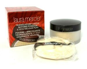 Laura-Mercier-Translucent-Loose-Setting-Powder-amp-Mini-Velour-Puff-33-oz-BNIB