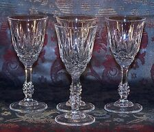 Set of 4 Crystal Cut Glass, Facet & Knopped Stem, Liqueur  Sherry Glasses 40 ml