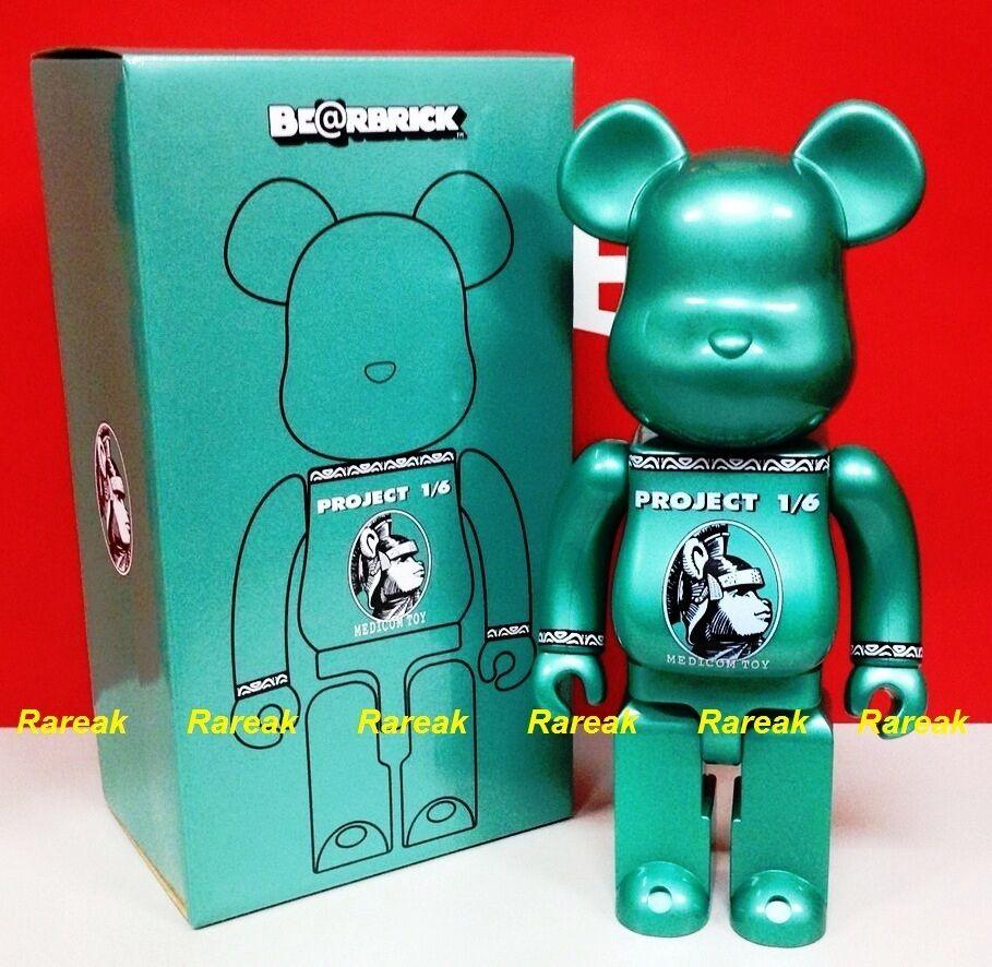 Be@rbrick 2014 Project 1 1 6 Centurion 400% Chrome Green color Bearbrick 1pc