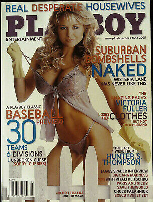 SIGNED BY COVER MODEL  MICHELLE BAENA PLAYBOY MAY 2005