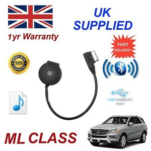 For Mercedes ML Class Bluetooth Streaming USB Charge & stick Cable MB-MMI-BT001