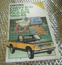 Chilton Repair Manual 82-94 Chevrolet S10 GMC S15 W/ Wiring ... on 82 s10 ecu, 82 s10 engine swap, 82 s10 frame, 82 s10 transmission, 83 s10 wiring diagram, 82 s10 clutch, 82 s10 fuse block diagram,