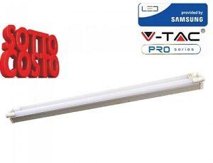Plafoniera Con Tubo Led : V tac vt 12027 neon plafoniera doppia con 2 tubi led 2x18=2x36w watt