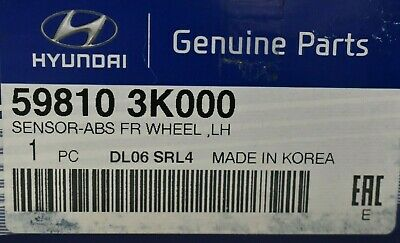 Genuine Hyundai 59830-3K000 ABS Wheel Sensor