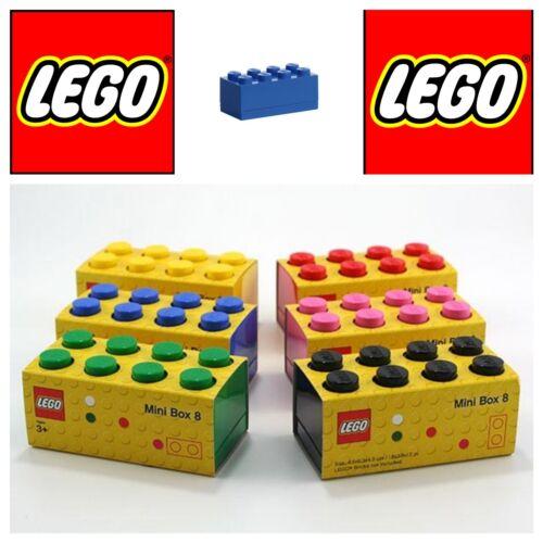 Lego mini box 8 blu scatola mattoncino contenitore plastica per alimenti