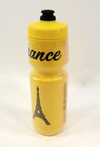 "YELLOW BPA FREE 26oz SUPACAZ PURIST /""FRANCE/"" BICYCLE WATER BOTTLE"