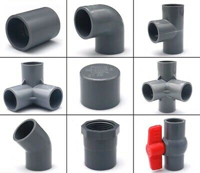 Size : ID 40mm X ID 32mm Without brand 1pc Gray Black Tube Fitting Reducing Straight Connectors Garden Water Pipe Connector PVC Pipe Fittings