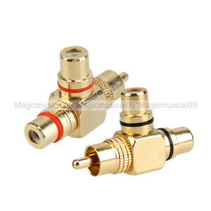 Rca Male Connector reviews as well 330640093016 further 301349058608 further 331570174038 also Product info. on to 2 rca phono female audio video av adapter