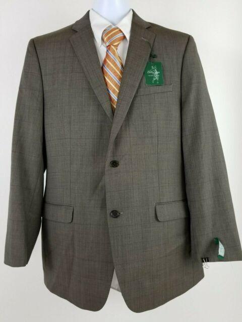 $529 Ryan Seacrest Men/'s Gray Plaid Overcoat Wool Jacket Winter Coat Size 38 R