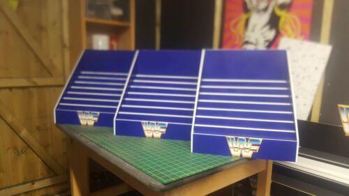 WWE//WWF custom made Classic Blue detolf affichage pour Hasbro figures