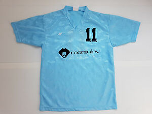 MAILLOT FOOTBALL PORTE WORN SHIRT ANCIEN VINTAGE MONTALEV N°11 RUCANOR T. 5-6