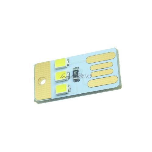 5Pcs Mini 3LED USB Light White Lamp Nightlight Camping Outdoor Portable NEW