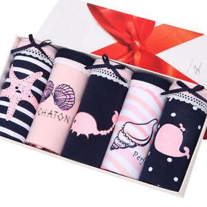 5Pcs-Sexy-Women-039-s-Girls-039-Cotton-Soft-Seamless-Lingerie-Briefs-Panties-Underwear