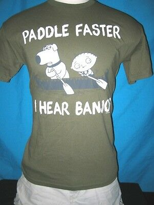 "/""PADDLE FASTER I HEAR BANJOS/"" BRIAN /& STUEY Mens T-shirt FREE SHIPPING!"