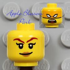 NEW Lego Ninjago FEMALE MINIFIG HEAD -Pink Lips Girl Smile w/Skylor Ninja Mask