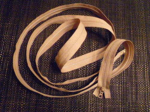 schläfsäcke adapté Fermeture éclair plastique 2,50 KM long beige F