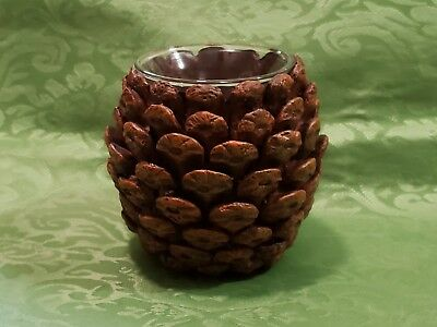 NIB 2 Holiday Pine Cone Votive Candle Holders