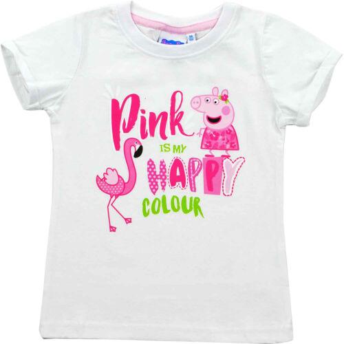 "Gr 110//116 NEU//OVP Peppa Wutz Mädchen T-Shirt /""Pink is my happy colour/"""