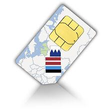 SIM Karte Baltikum (Estland, Lettland & Litauen) mit 750MB mobiles Internet Nano