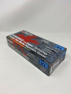 MCR Safety Powder-Free Nitrile Gloves with Grippaz Technology 8 mil XL 50//box