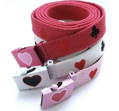 Cintura Donna Regolabile Motivo Cuori Fiori Picche Quadri Essere Altamente Elogiati E Apprezzati Dal Pubblico Che Consuma