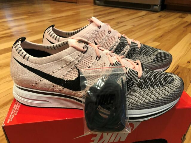 38b57f6f7d3f1 Nike Flyknit Trainer Sunset Tint Black Pink White AH8396-600 Men s Size 12