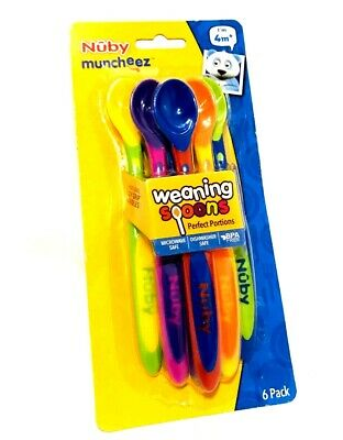 Pack of 6 Nuby Muncheez Weaning Spoons