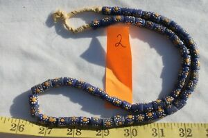 Fancy-Krobo-Powder-Glass-Beads-Ghana-African-Beads-Blue-White-Yellow-59pc-2