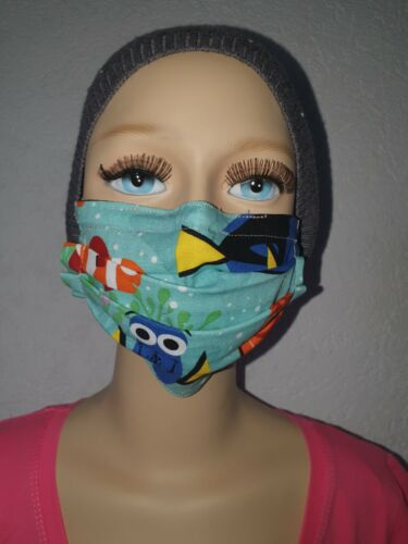 Behelfsmaske  Kind mit Nasenbügel Nemo100/% BW